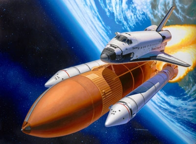 Space Shuttle Discovery + Booster Rockets - Revell