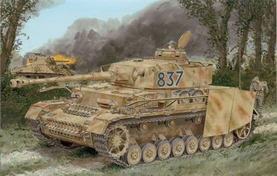 Pz.Kpfw.IV Ausf.H LATE PRODUCTION w/ZIMMERIT - Dragon