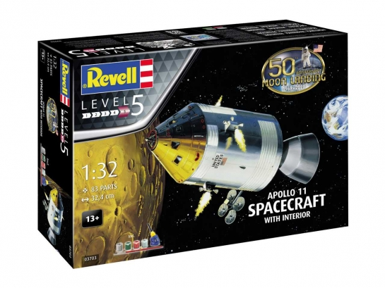 Gift-Set 03703 - Apollo 11 Spacecraft with Interior (50 Years Moon Landing) (1:32)