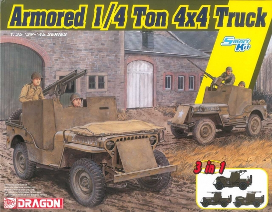 Model Kit military 6727 - Armored 1/4-Ton 4x4 Truck 3v1 (1:35)