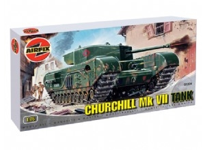 Churchill MkVII - Airfix - detail přebalu