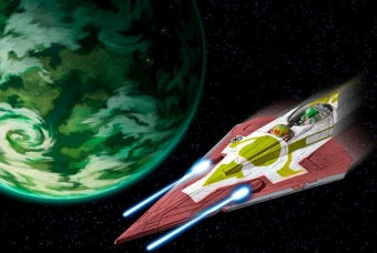 Kit Fisto's Jedi Starfighter / seas. 1+2 (Clone Wars) - Revell