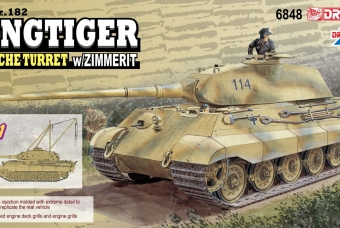 Sd.Kfz.182 Kingtiger Porsche Turret w/Zimmerit (2 in 1) - Dragon