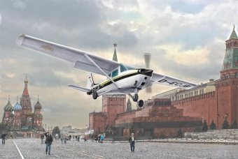CESSNA 172 SKYHAWK - 1987 Landing on Red Square - Italeri