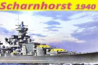 Model Kit loď 1062 - German Battleship Scharnhorst, 1940 (1:350)